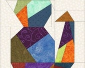 Crazy Cat 2 Paper Piece Quilt PDF Pattern by MadCreekDesigns
