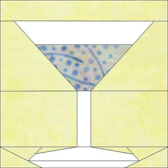 martini paper piece block pdf pattern by madcreekdesigns. Black Bedroom Furniture Sets. Home Design Ideas