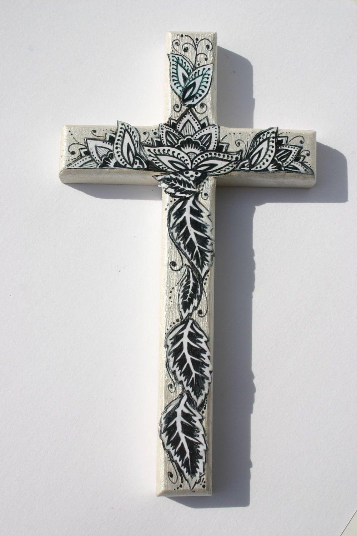 Decorative Wood Cross 8 Tall Decorative Wall Art
