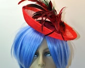 Sinamay Saucer Cocktail Hat/Fascinator