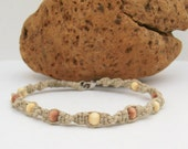 Made to Order -- Macrame Hemp Twister Bracelet with Wooden Beads