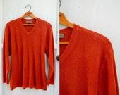 vintage BURNT ORANGE BOYFRIEND sweater