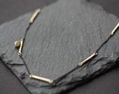 Natural DIamond Bar Necklace