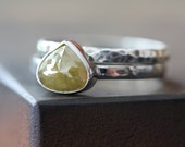 Natural Yellow Diamond Ring in 14kt Gold