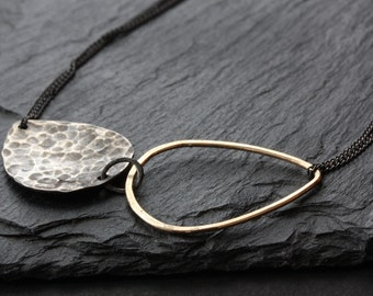 Infinity Mixed Metal Necklace