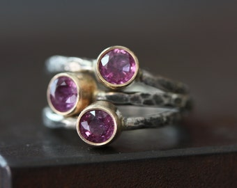 Natural Ruby Ring- 14kt gold and sterling silver- as seen in LUCKY Magazine