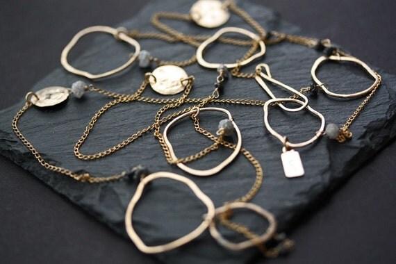 Long Organic Rough Diamond Necklace