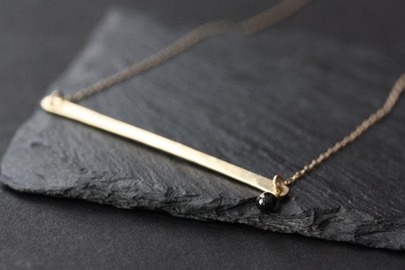 Modern Black Diamond Necklace
