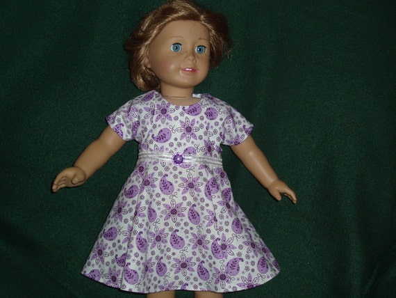 Clothes for American Doll -- Purple Floral Party Dress with Matching Jacket
