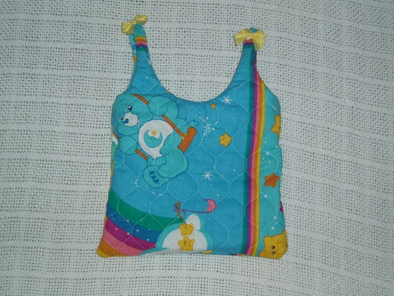 Care Bear Quilted Tote Bag -- Great for Girls, Diaper Bag, Book Bag, etc