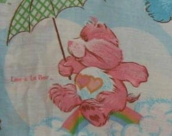 Vintage Care Bears Twin Size Fitted Sheet