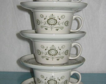 Set of 4 Vintage Mod Cups and Saucers Franciscan Heritage