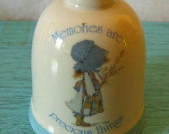 Vintage Holly Hobbie Blue Girl Bell Memories are precious things
