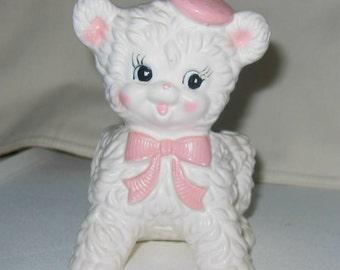 Kitschy Little Lamb Vintage Planter