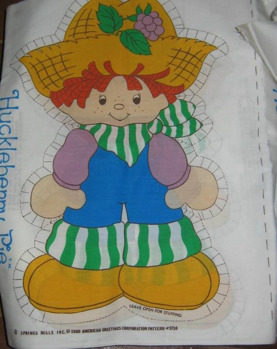 Vintage Sew Your Own Doll Huckleberry Pie Fabric