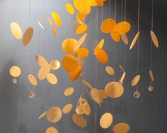 Polka Dot Mobile in Shades of Orange Creamsicle - MEDIUM