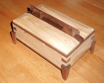 Decorative Black Walnut and Hickory Jewelry Box