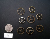 LARGE - Vintage Antique Watch parts gears- Steampunk - Scrapbooking (8)