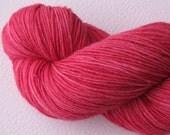 SALE Hand Dyed Sock Yarn in Cherry Pop
