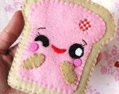 FREE SHIPPING - Teemie in Pink Felt Card-Case Cozy
