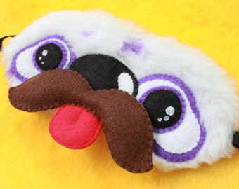 FREE SHIPPING! Sleeping Eye Mask - Mister Tex the Furry Yeti Monster with Moustache