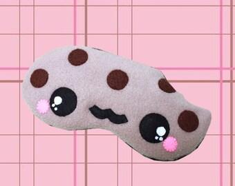 FREE SHIPPING - Kawaii Sleeping Eye Mask - Coco the Chocolate Cookie