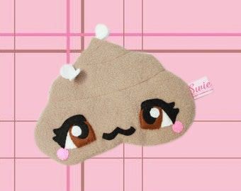 FREE SHIPPING! - Kawaii Sleeping Eye Mask - Phoebe the Poo with Manga Eyes and Flies