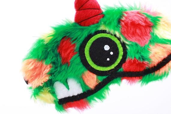 FREE SHIPPING! Sleeping Eye Mask - Tibedus the Uni-Horn Furry Monster
