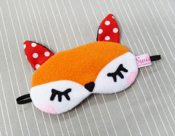 FREE SHIPPING! Sleeping Eye Mask - Kawaii Woodland Animal - The Little Red Fox