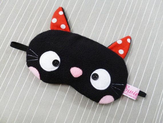 FREE SHIPPING! Sleeping Eye Mask - Kawaii Black Kitty