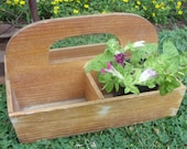Natural Wood Garden Tote Tool Box Unpainted Rustic Caddy