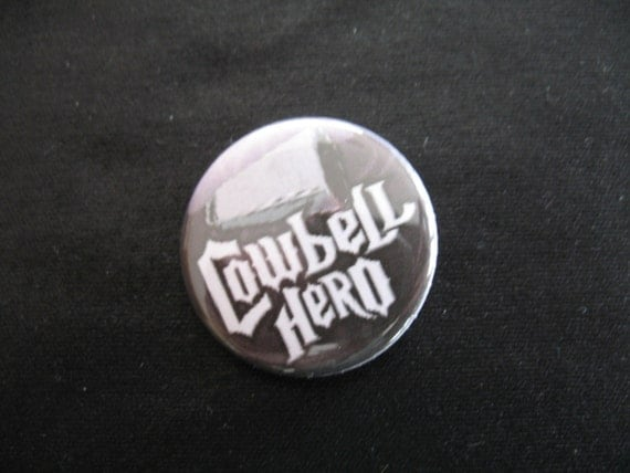 A Cowbell Hero button