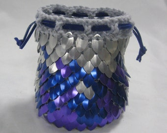 Scalemail Armor Dice Bag of Holding knitted Dragonhide Cold Fire