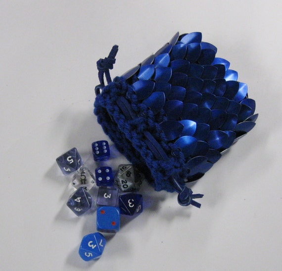 Dragon Scale Dice Bag knitted Dragonhide