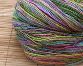 Merino Wool Hand Spun Yarn Flower Garden 500 yards\/457 meters