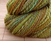 Wool Handspun Yarn Summer Trees 165 yards\/ 150 meters