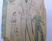 1940s Hollywood Patterns Jacket, Slacks and Bra Top Patterns Size 20 No 635