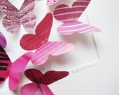The Cutie Pie - recycled paper butterfly shadow box