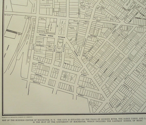 City map Rochester New York