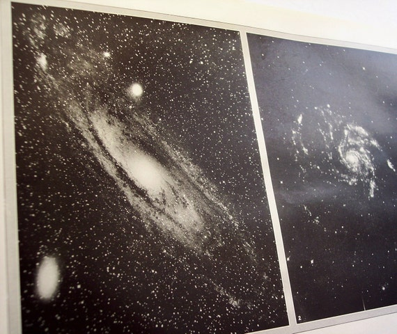 Nebula illustration - 1929 antique astronomy, star print to frame - Orion, Andromeda