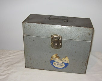 Industrial Metal Portable File Box