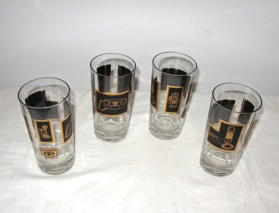 Retro set of General System Telephone Glasses