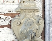 Old World Door Knocker,  Fossil Tan,  Farmhouse Decor, Cottage Chic, French Chic