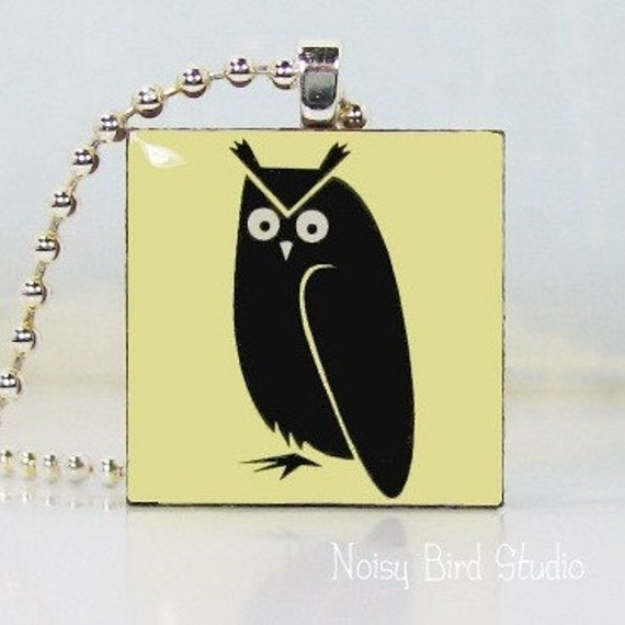 No. 040 - SALE - Wise Owl (yellow) Pendant
