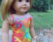Tie-Dye Extreme One Piece - Swimsuit - fits American Girl