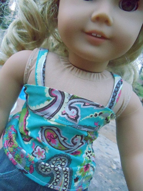 Pretty in Paisley Bandeau Outfit - 2 pieces - fits American Girl