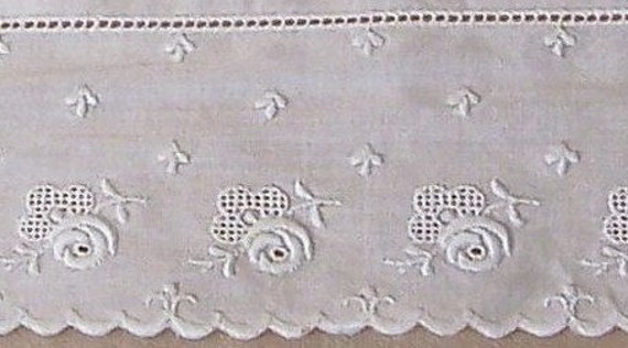 Early 1900's Fine Cotton Embroidery Trim