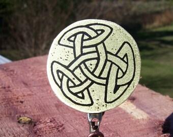 Celtic Knot Brass Pin