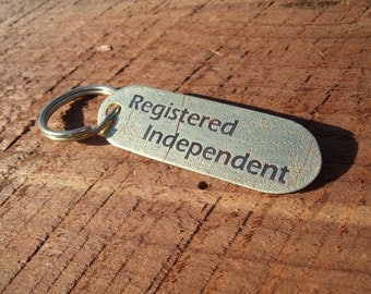 Political Statement Etched Brass Keychain