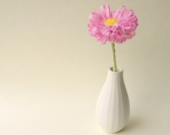 Candy Pink Fabric Flower